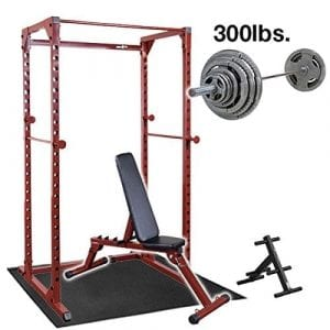 Best Fitness Power Rack with Weight Bench
