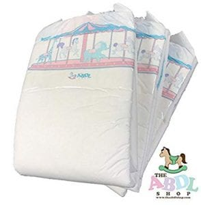Carousel Printed Incontinence Diapers ABDL 10 Pack