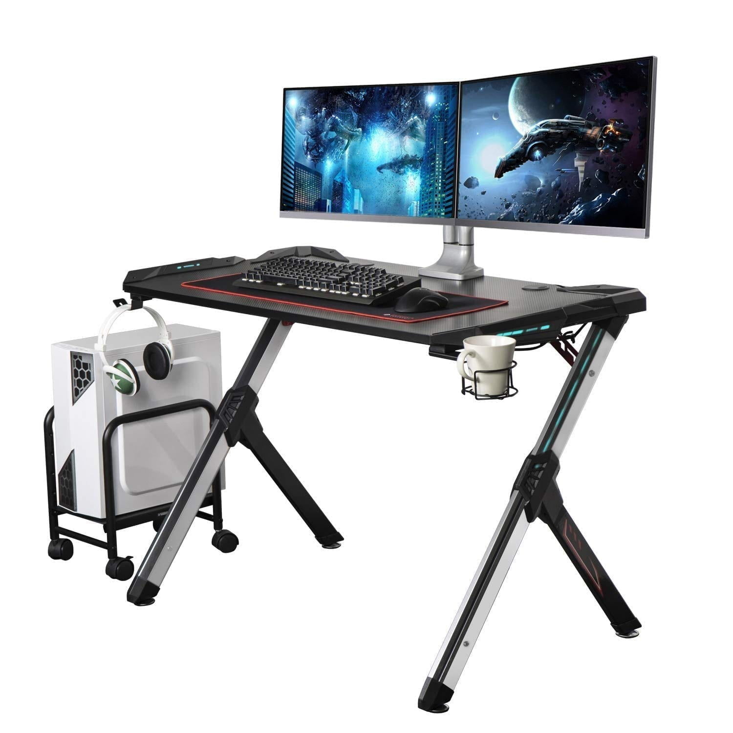 Eureka Ergonomic R1-S Gaming Desk