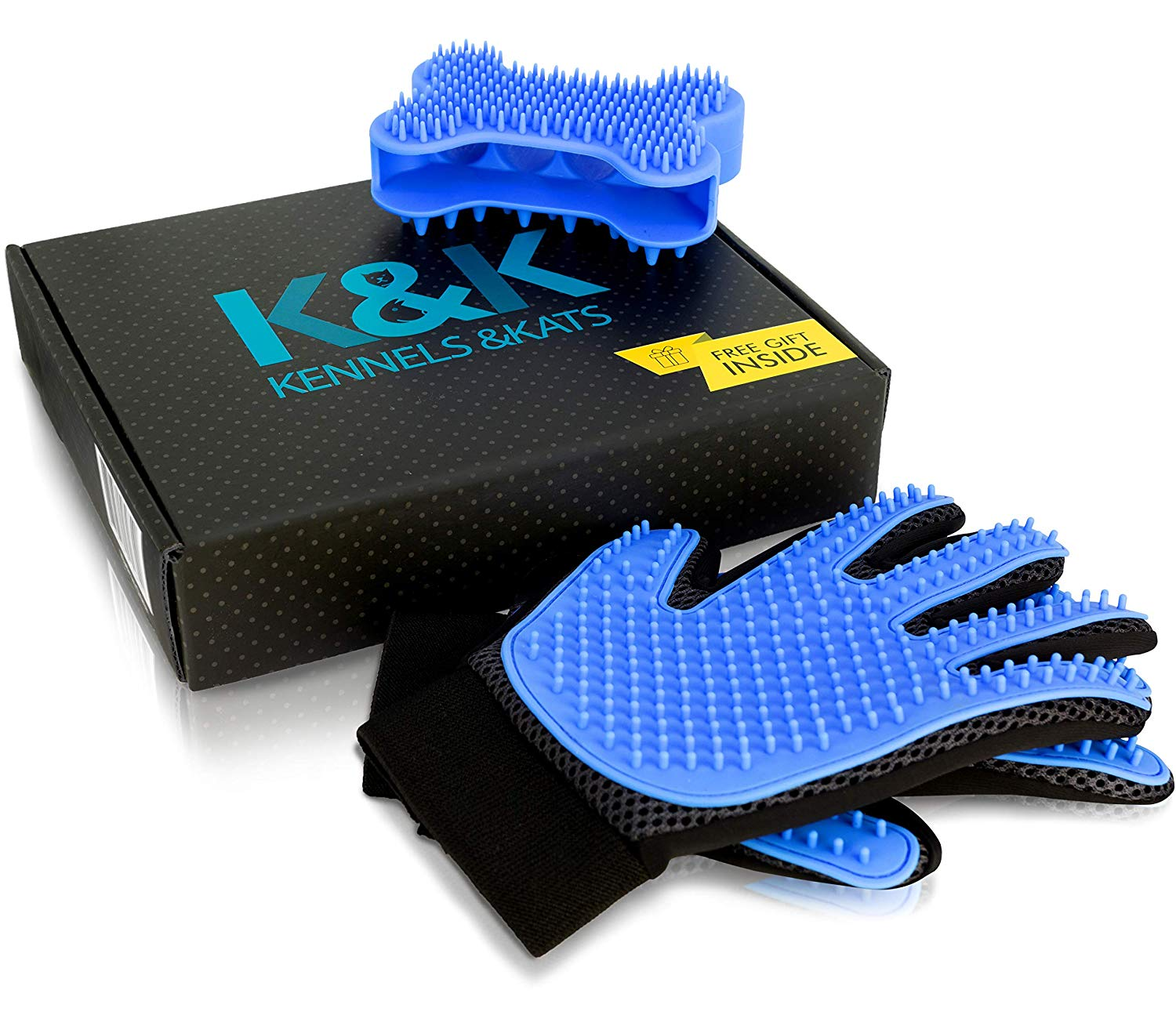 K&K Pet Grooming Glove Gift Set