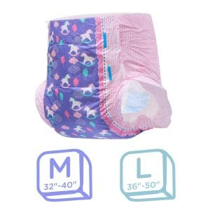 Littleforbig Printed Adult Brief Diapers Adult