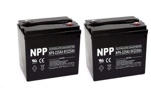 NP6 6V 225Ah Sealed AGM Deep Cycle Battery