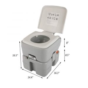 VINGLI Upgraded Portable 5.3 Gallon Toilet