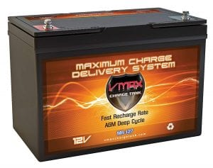 VMAX MR127 12V 100Ah AGM deep cycle battery
