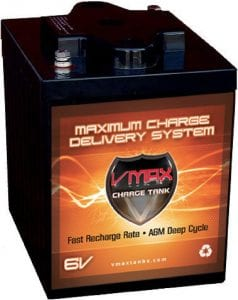 VMAXTANKS 6V 225Ah AGM deep cycle battery