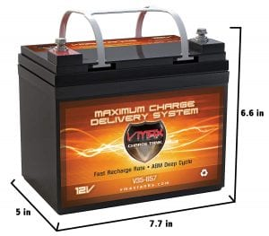 VMAXTANKS VMax V35-857 12v 23Ah AGM Marine Deep Cycle High-performance Battery