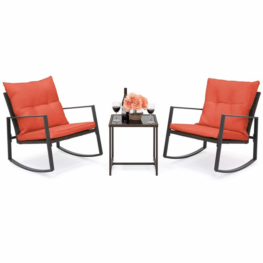 Best Choice Products Wicker Bistro Furniture set