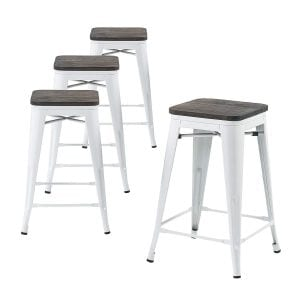 Buschman Metal Bar Stools 24-inch Counter Height bar stools-(Set of 4)