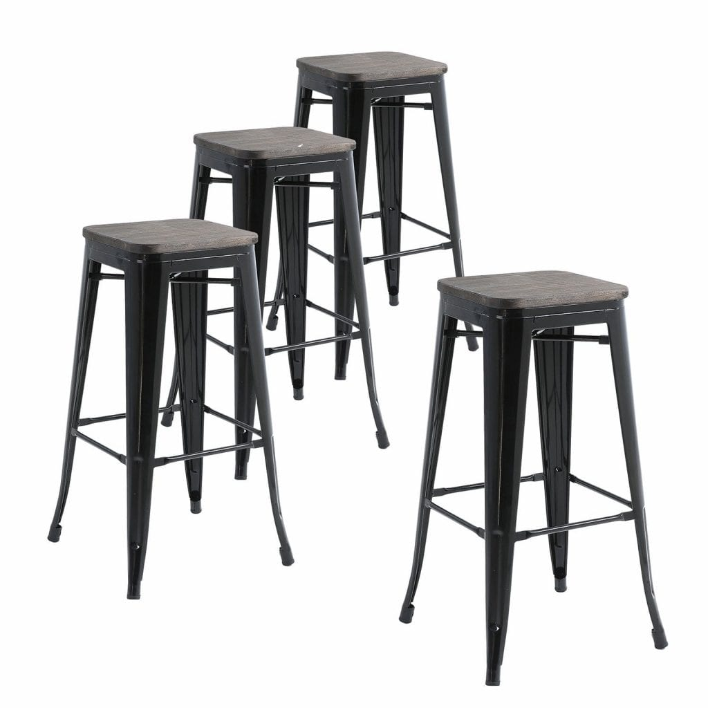 Buschman Metal Bar Stools-(Set of 4)