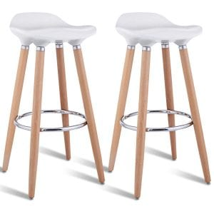 COSTWAY Comfortable Armless Counter Height Barstools