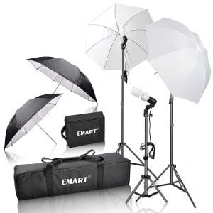 Emart 600W Photography Daylight umbrella continuous lighting kit