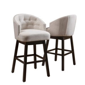 Great Deal Furniture Westman Swivel Bar Stools (Set of 2)