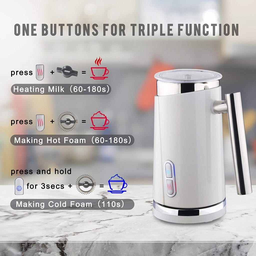 10. Huogary Milk Frother Electric Automatic Milk Warmer