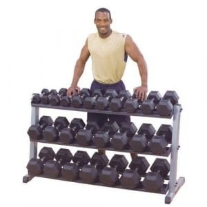 Ironcompany.com Body-Solid 3 Tier Horizontal Dumbbell Storage Rack