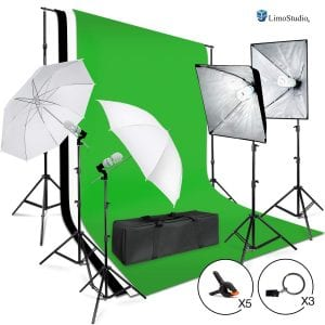 LimoStudio Umbrella Softbox lighting kit