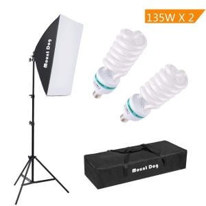MountDog 1350W photography continuous Softbox lighting kit