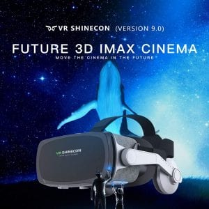 Shinecon VR Headsets for TV, Movies and Video Games