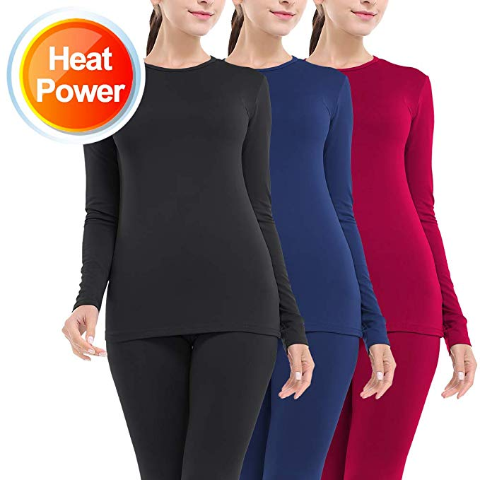 LALAVAVA Lusofie Thermal Underwear for Women Cotton Long Johns Set Ultra-Soft Base Layer
