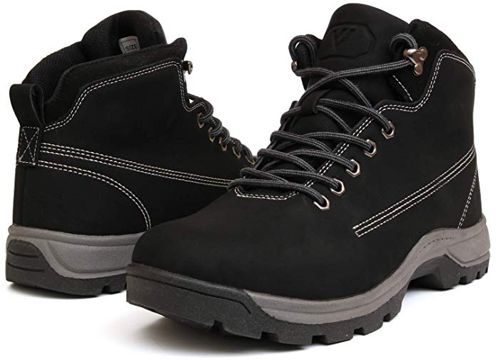 MENS HIKING BOOTS TRAINERS SHOES LACE WALKING TRAIL TREKKING WHITE SIZE 6-12