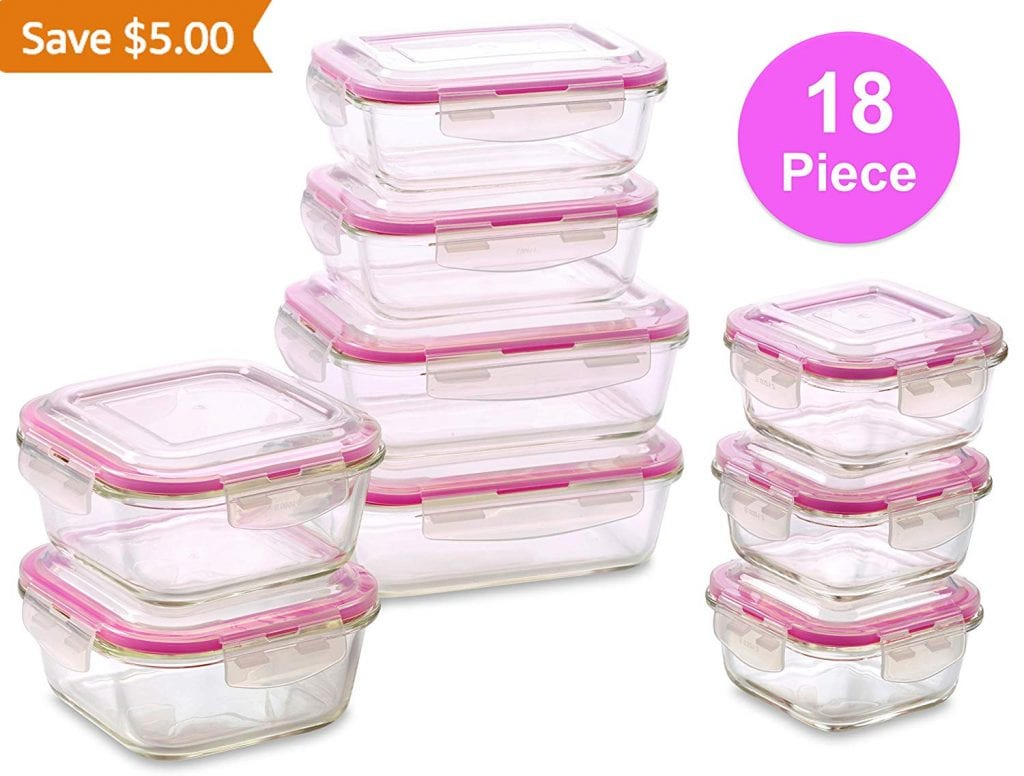WonderVeg Glass Containers