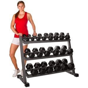 XMARK 550 lbs Dumbbell Set with Rack