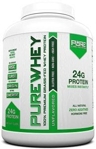 Grass Fed Whey Protein | 5lb + Unflavored Grass Fed Whey | 100% Natural Whey w/No Sweeteners or Added Sugars