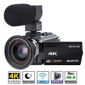Kicteck 4K video camera camcorder