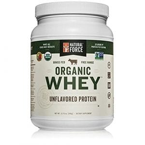 Natural Force® Undenatured Organic Whey Protein Powder *UNFLAVORED* Grass Fed Whey from California Farms