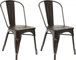 Pioneer Square Beja Metal Dining Chair with Wood Seat