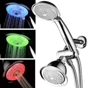 PowerSpa Luminex 7 color & 24 settings LED showerhead - (Best Combo Showerhead)