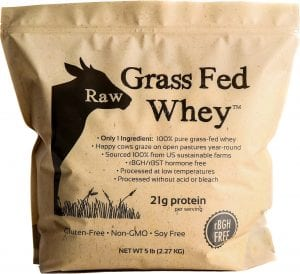 Raw Grass Fed Whey 5LB - Happy Healthy Cows, COLD PROCESSED Undenatured 100% Grass Fed Whey Protein
