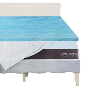Advanced Sleep Solution Gel Memory Foam Topper