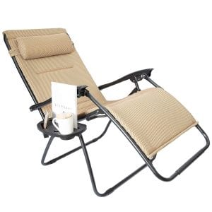 LUCY BERRY Padded Zero Gravity Mesh Lounge Chair