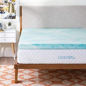 Linenspa 3 Inch Queen Bed Memory Foam Topper