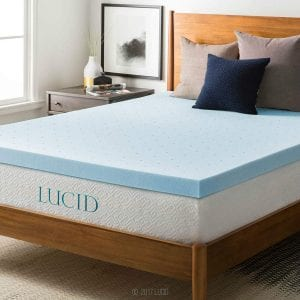 Lucid Memory Foam Mattress Topper Gel Based (3 inch)