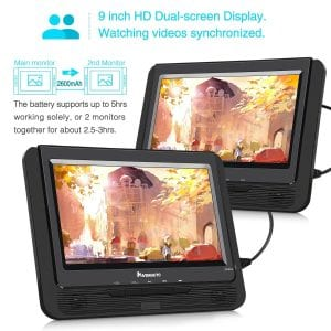 "NAVISKAUTO 9"" Portable Car DVD Player"