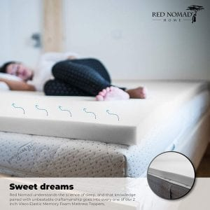 Red Nomad Ultra Premium Mattress Bed Topper (3 inches)