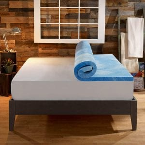 Sleep Innovations Dual Layer Gel Memory Mattress Topper (4 inch)