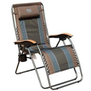 Timber Ridge Zero-Gravity Locking Patio Outdoor Lounger Chair