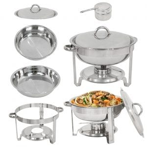 SuperDealUsa Full Size Round Chafing Dish