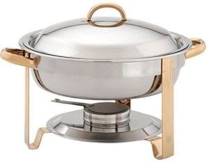 Update International DC-4/GB Stainless Steel Gold-Accented Chafer