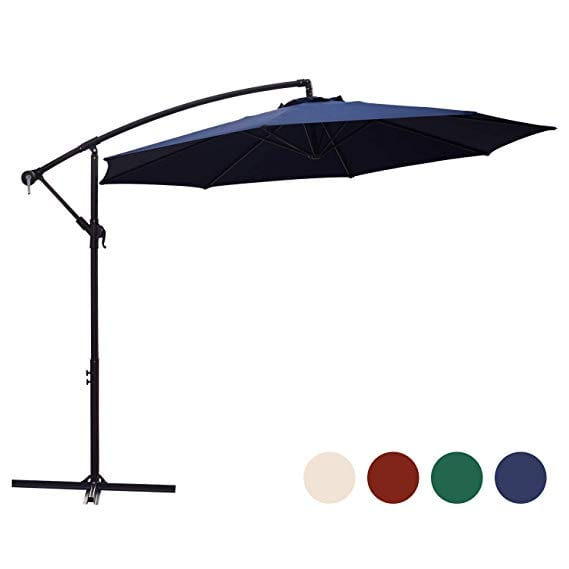 KINGYES 10ft Patio Offset Cantilever Umbrella