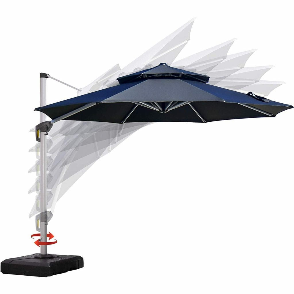 PURPLE LEAF 11 Feet Double Top Deluxe Patio Umbrella