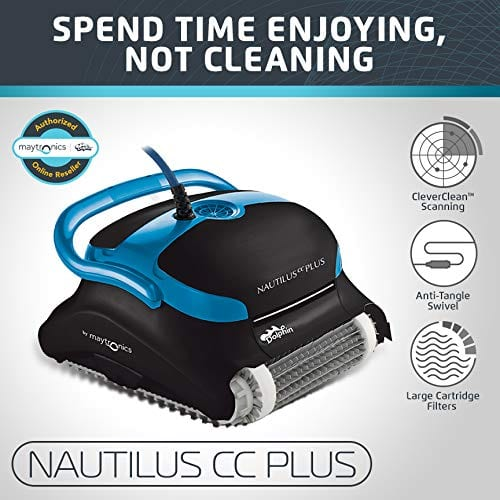Dolphin Robotic Tangle Free Top Cartridge Load Swimming Pool Cleaner