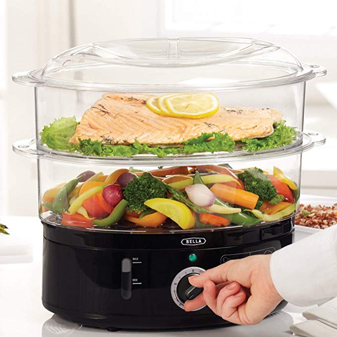 2-Tier Stackable Baskets Healthy Food Steamer by Bella