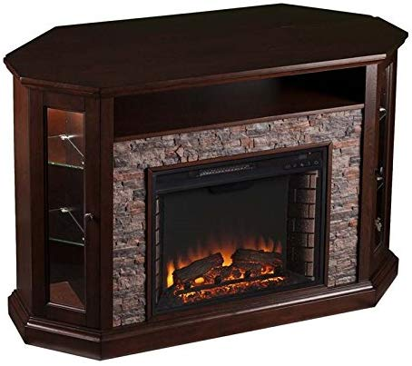 Corner LED Fireplace TV Stand by Pemberly Row