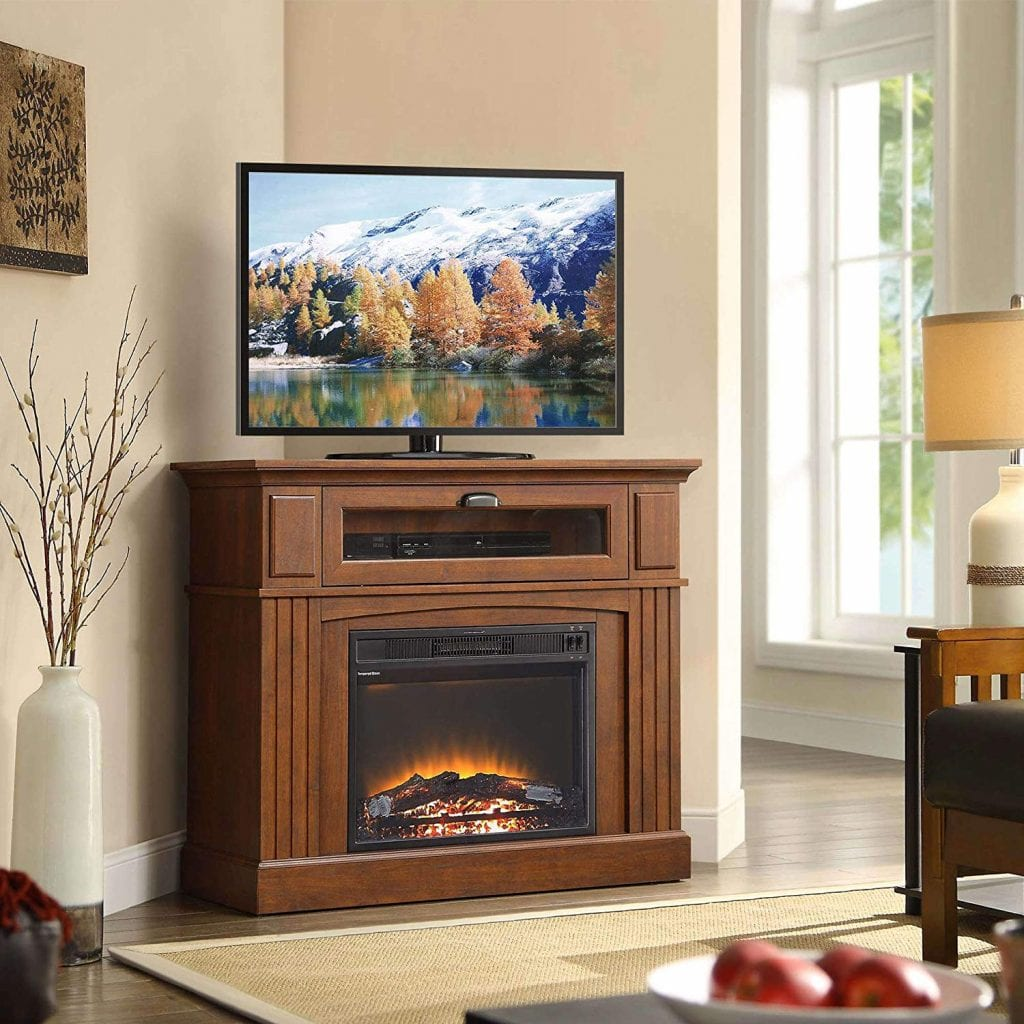 Corner Media Electric Fireplace by Sumner