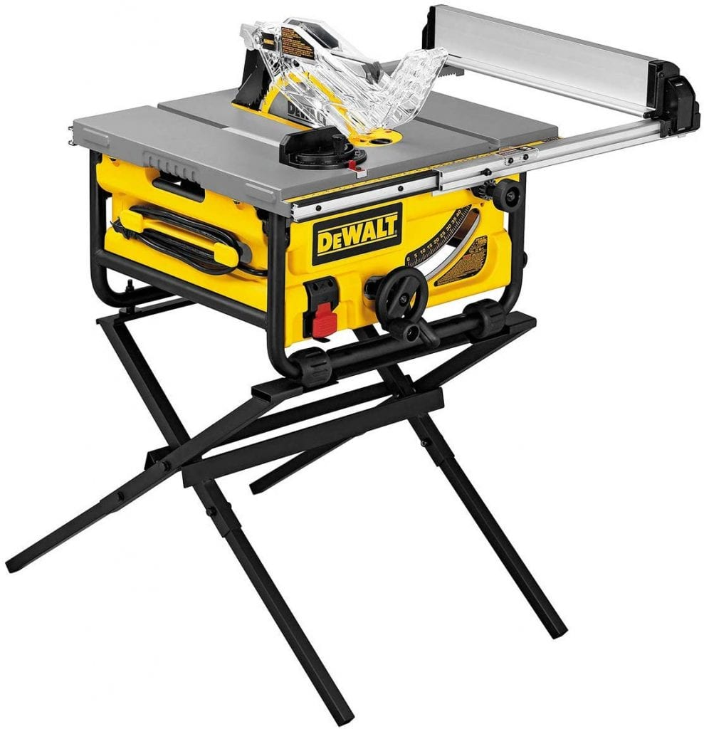 DEWALT DW745S Table Saw with Folding Stand