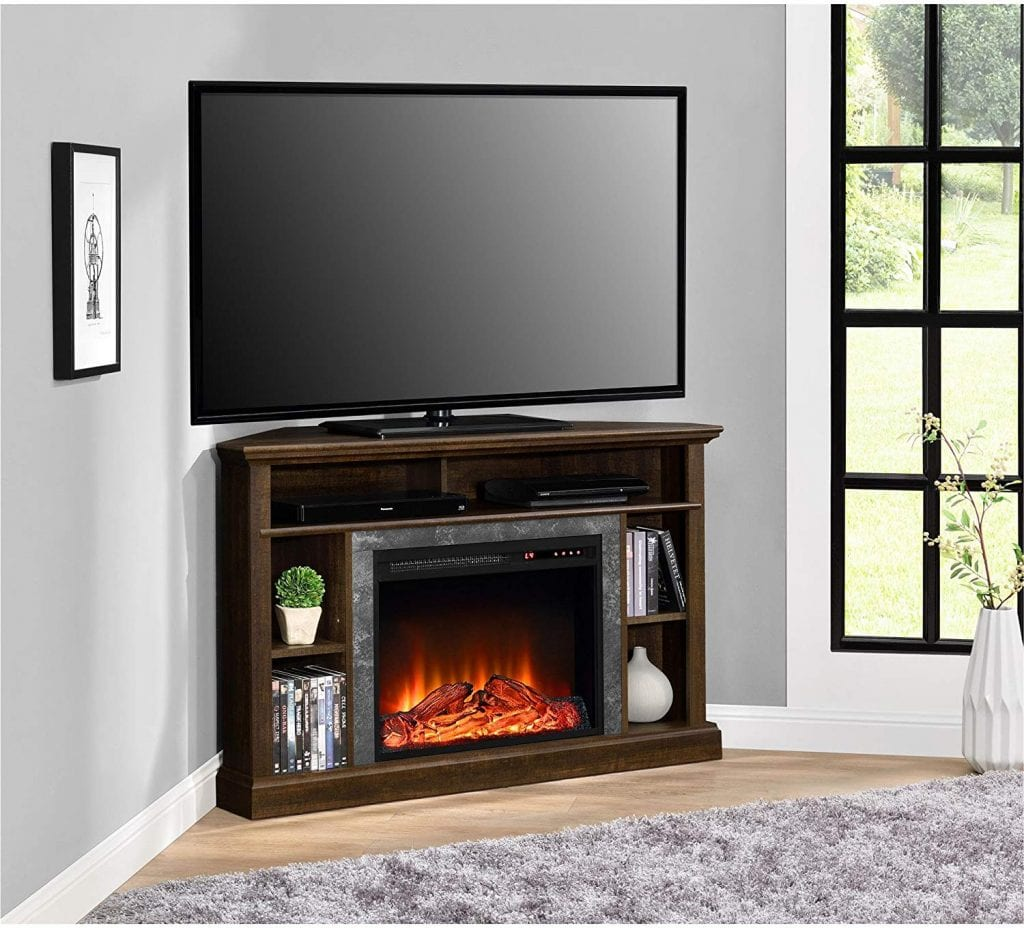 Electric Corner Fireplace TV Stand by Ameriwood Home