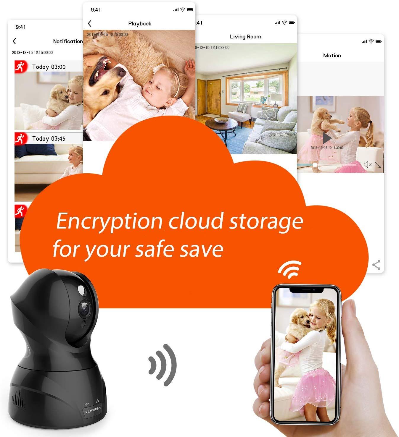 Security Camera Pet Wifi Camera Kamtron 1536P Indoor Wireless Ip Camera Full Hd
